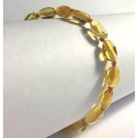 Bracelet d'Ambre pour bébé avec fermoir olivettes citron