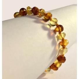 Bracelet en Ambre pour bébé boules Caramel et Citron
