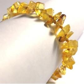 Bracelet bébé en Ambre Pépites miel