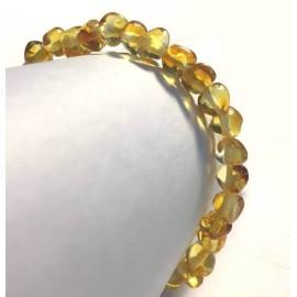 Bracelet FEMME en Ambre boules Citron