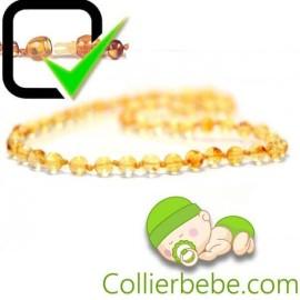 Amber Baby necklace Extra Round beads Lemon